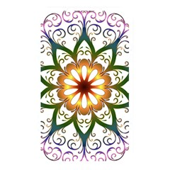 Prismatic Flower Floral Star Gold Green Purple Memory Card Reader by Alisyart