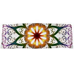 Prismatic Flower Floral Star Gold Green Purple Body Pillow Case Dakimakura (two Sides) by Alisyart