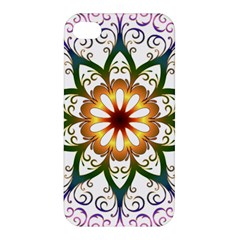 Prismatic Flower Floral Star Gold Green Purple Apple Iphone 4/4s Premium Hardshell Case by Alisyart