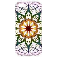 Prismatic Flower Floral Star Gold Green Purple Apple Iphone 5 Hardshell Case by Alisyart