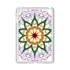 Prismatic Flower Floral Star Gold Green Purple Ipad Mini 2 Enamel Coated Cases by Alisyart