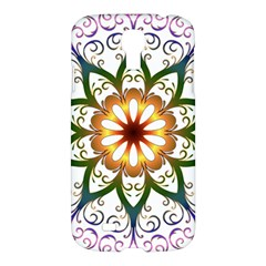 Prismatic Flower Floral Star Gold Green Purple Samsung Galaxy S4 I9500/i9505 Hardshell Case by Alisyart