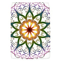 Prismatic Flower Floral Star Gold Green Purple Flap Covers (s)  by Alisyart