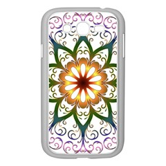 Prismatic Flower Floral Star Gold Green Purple Samsung Galaxy Grand Duos I9082 Case (white) by Alisyart