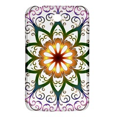 Prismatic Flower Floral Star Gold Green Purple Samsung Galaxy Tab 3 (7 ) P3200 Hardshell Case  by Alisyart