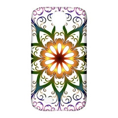 Prismatic Flower Floral Star Gold Green Purple Samsung Galaxy S4 Classic Hardshell Case (pc+silicone) by Alisyart