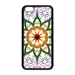 Prismatic Flower Floral Star Gold Green Purple Apple Iphone 5c Seamless Case (black) by Alisyart