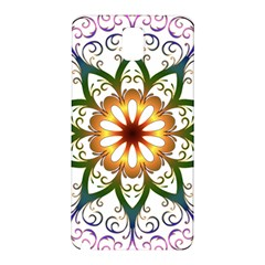 Prismatic Flower Floral Star Gold Green Purple Samsung Galaxy Note 3 N9005 Hardshell Back Case by Alisyart