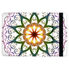 Prismatic Flower Floral Star Gold Green Purple Ipad Air Flip by Alisyart