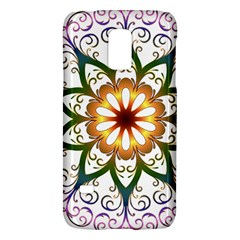 Prismatic Flower Floral Star Gold Green Purple Galaxy S5 Mini by Alisyart