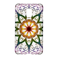 Prismatic Flower Floral Star Gold Green Purple Galaxy Note Edge by Alisyart