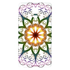 Prismatic Flower Floral Star Gold Green Purple Galaxy Note 4 Back Case by Alisyart