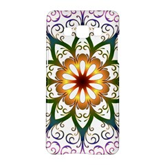 Prismatic Flower Floral Star Gold Green Purple Samsung Galaxy A5 Hardshell Case  by Alisyart