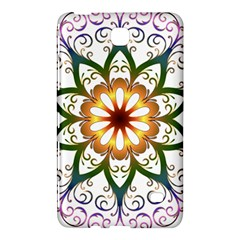 Prismatic Flower Floral Star Gold Green Purple Samsung Galaxy Tab 4 (7 ) Hardshell Case  by Alisyart