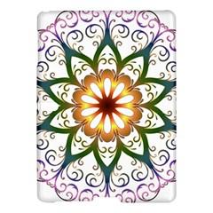 Prismatic Flower Floral Star Gold Green Purple Samsung Galaxy Tab S (10 5 ) Hardshell Case  by Alisyart