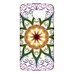 Prismatic Flower Floral Star Gold Green Purple Galaxy S6