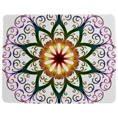 Prismatic Flower Floral Star Gold Green Purple Jigsaw Puzzle Photo Stand (rectangular) by Alisyart