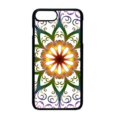 Prismatic Flower Floral Star Gold Green Purple Apple Iphone 7 Plus Seamless Case (black) by Alisyart