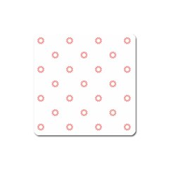 Scrapbook Paper Flower Square Magnet by Alisyart