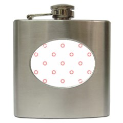 Scrapbook Paper Flower Hip Flask (6 Oz) by Alisyart
