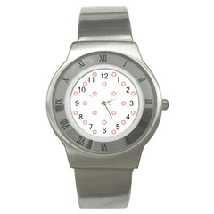 Scrapbook Paper Flower Stainless Steel Watch by Alisyart