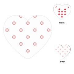 Scrapbook Paper Flower Playing Cards (heart)  by Alisyart