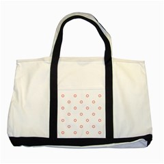 Scrapbook Paper Flower Two Tone Tote Bag by Alisyart