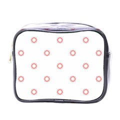 Scrapbook Paper Flower Mini Toiletries Bags