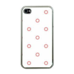 Scrapbook Paper Flower Apple Iphone 4 Case (clear) by Alisyart