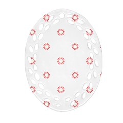 Scrapbook Paper Flower Oval Filigree Ornament (two Sides) by Alisyart