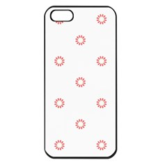 Scrapbook Paper Flower Apple Iphone 5 Seamless Case (black)