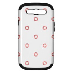 Scrapbook Paper Flower Samsung Galaxy S Iii Hardshell Case (pc+silicone) by Alisyart