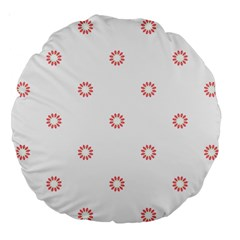 Scrapbook Paper Flower Large 18  Premium Round Cushions by Alisyart