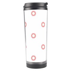 Scrapbook Paper Flower Travel Tumbler by Alisyart