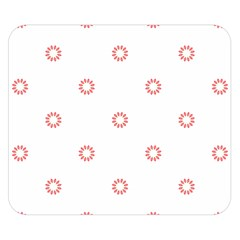 Scrapbook Paper Flower Double Sided Flano Blanket (small)  by Alisyart
