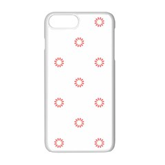 Scrapbook Paper Flower Apple Iphone 7 Plus White Seamless Case by Alisyart