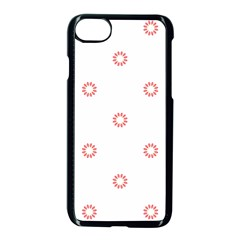 Scrapbook Paper Flower Apple Iphone 7 Seamless Case (black) by Alisyart
