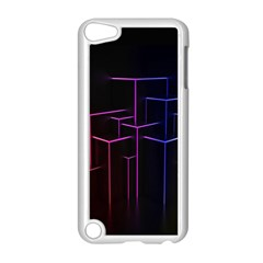 Space Light Lines Shapes Neon Green Purple Pink Apple Ipod Touch 5 Case (white) by Alisyart