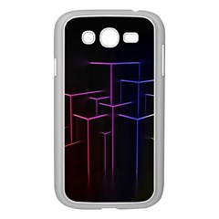 Space Light Lines Shapes Neon Green Purple Pink Samsung Galaxy Grand Duos I9082 Case (white) by Alisyart