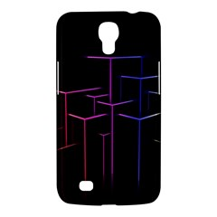 Space Light Lines Shapes Neon Green Purple Pink Samsung Galaxy Mega 6 3  I9200 Hardshell Case by Alisyart