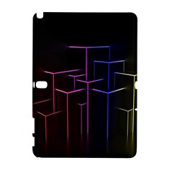Space Light Lines Shapes Neon Green Purple Pink Galaxy Note 1 by Alisyart