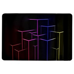 Space Light Lines Shapes Neon Green Purple Pink Ipad Air 2 Flip by Alisyart