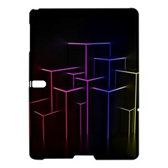 Space Light Lines Shapes Neon Green Purple Pink Samsung Galaxy Tab S (10 5 ) Hardshell Case