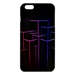 Space Light Lines Shapes Neon Green Purple Pink Iphone 6 Plus/6s Plus Tpu Case by Alisyart