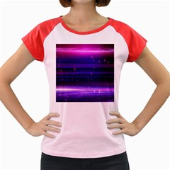 Space Planet Pink Blue Purple Women s Cap Sleeve T-shirt by Alisyart