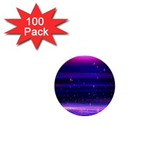 Space Planet Pink Blue Purple 1  Mini Buttons (100 Pack)  by Alisyart
