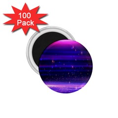 Space Planet Pink Blue Purple 1 75  Magnets (100 Pack)