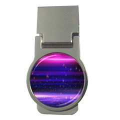 Space Planet Pink Blue Purple Money Clips (round)  by Alisyart
