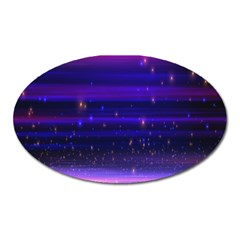 Space Planet Pink Blue Purple Oval Magnet by Alisyart