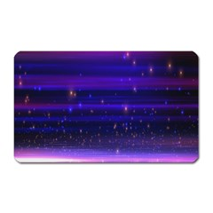 Space Planet Pink Blue Purple Magnet (rectangular) by Alisyart